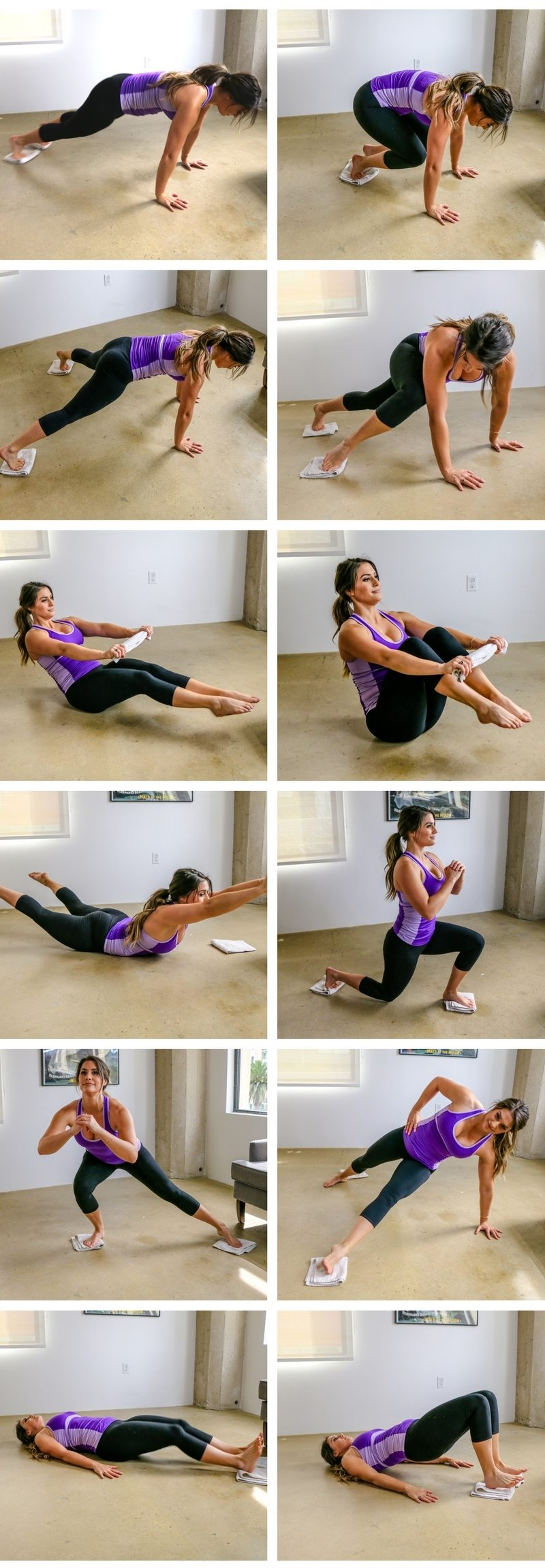 ab workouts at home with a towel