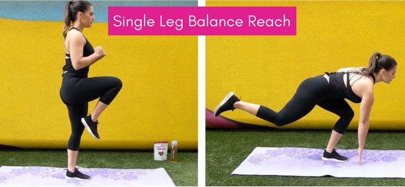 Balance Training single leg balance reach
