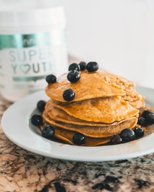 Protein Pancake Recipe super youth collagen pancakes