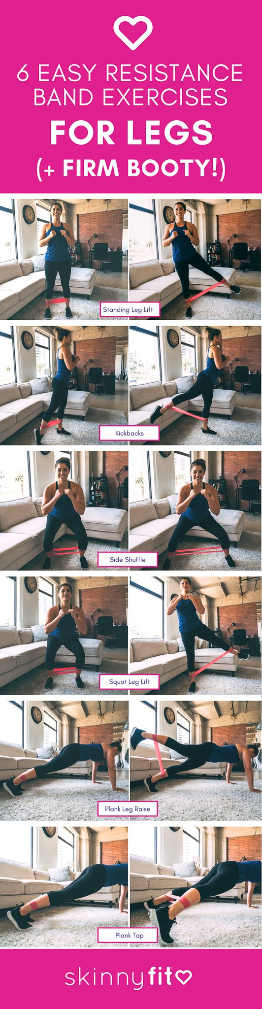 resistance band exercises for legs