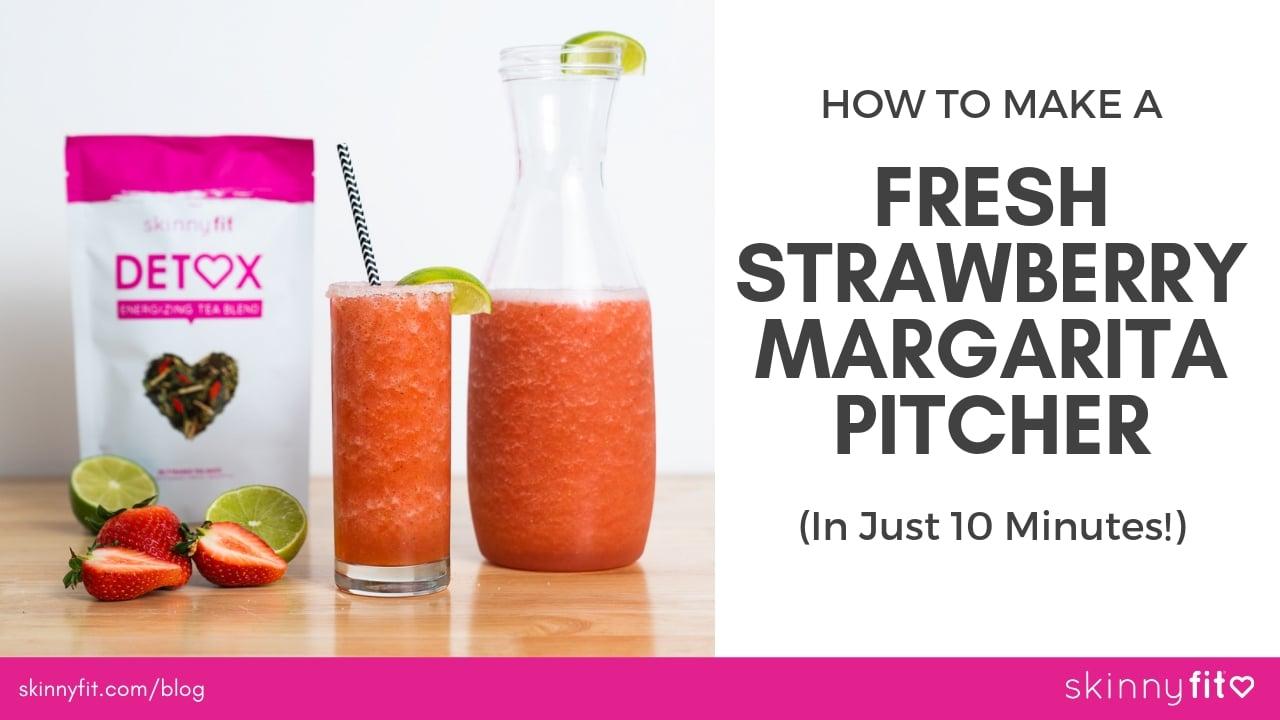How To Make A Fresh Strawberry Margarita Pitcher