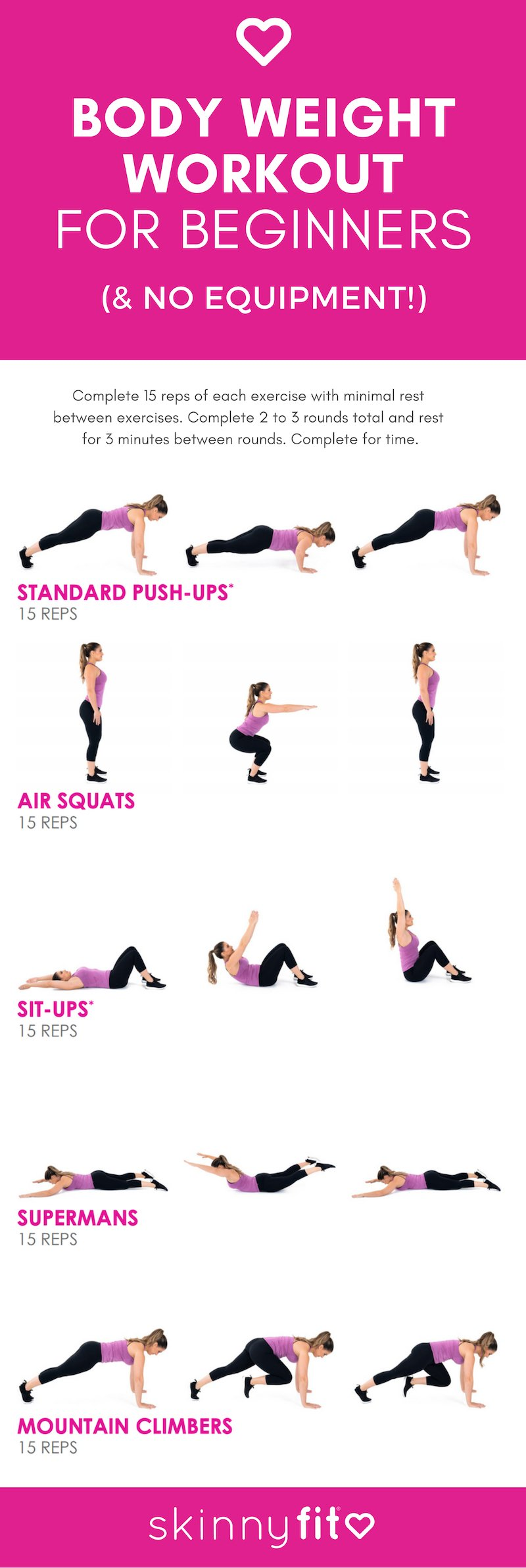 body weight workout for beginners