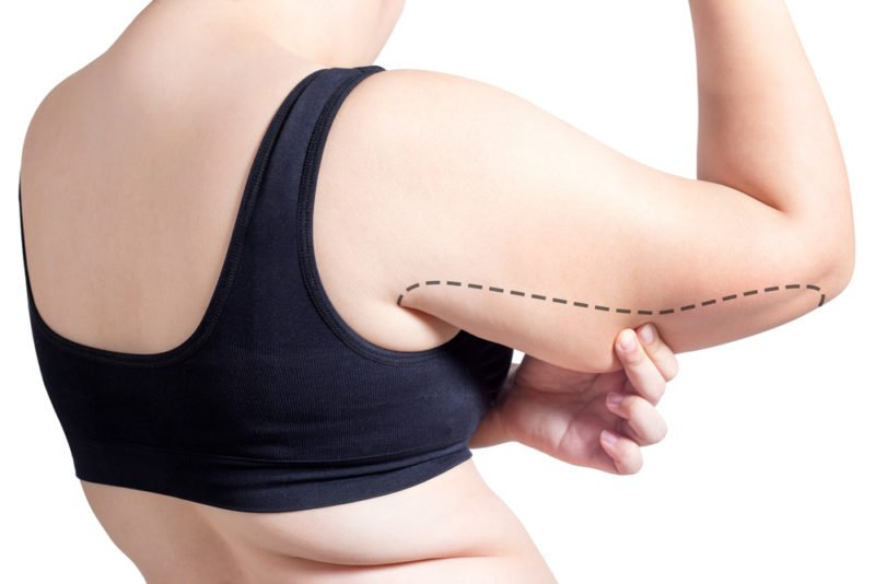 can you spot reduce stubborn arm fat