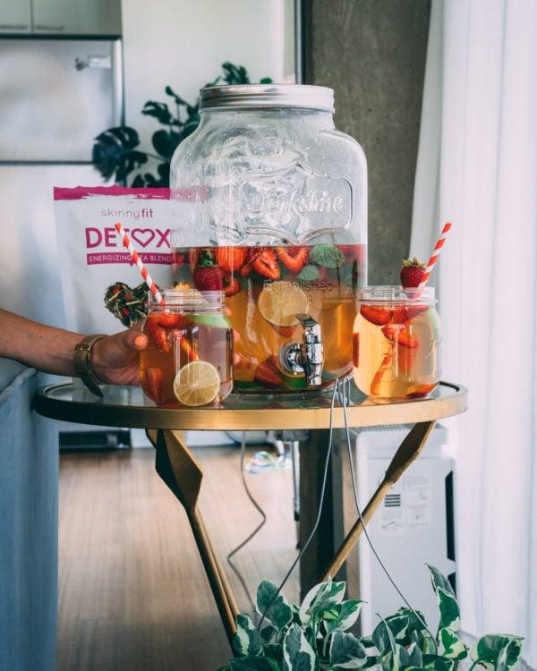 pitcher of detox tea