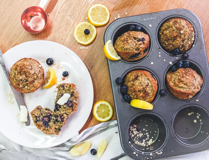 healthy lemon poppyseed muffins