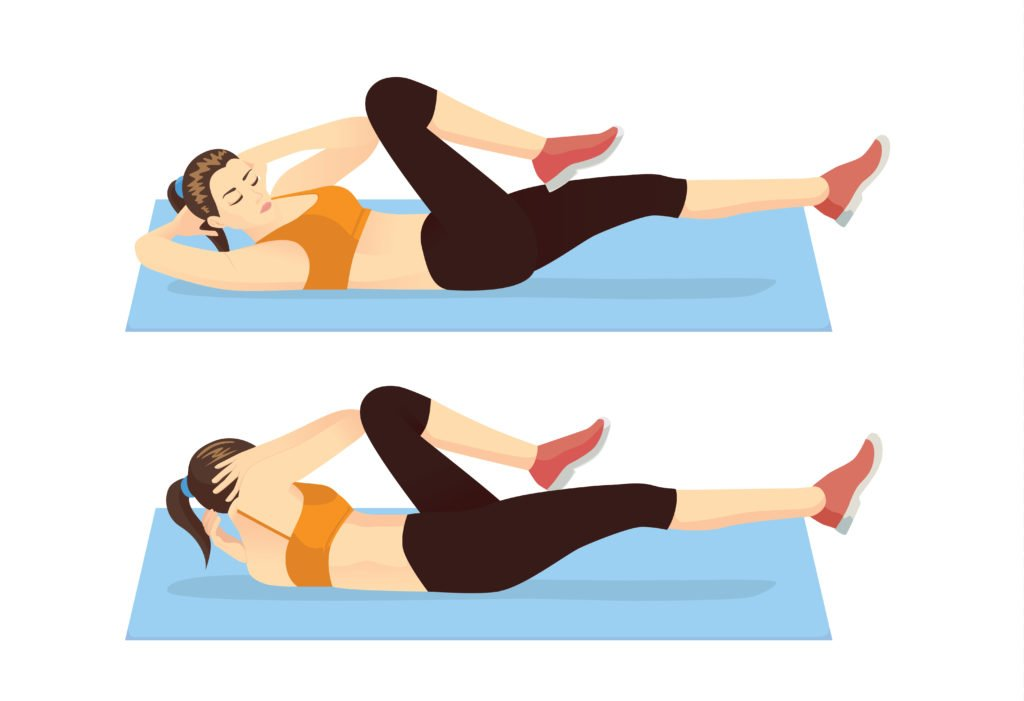 bicycle crunches ab challenge