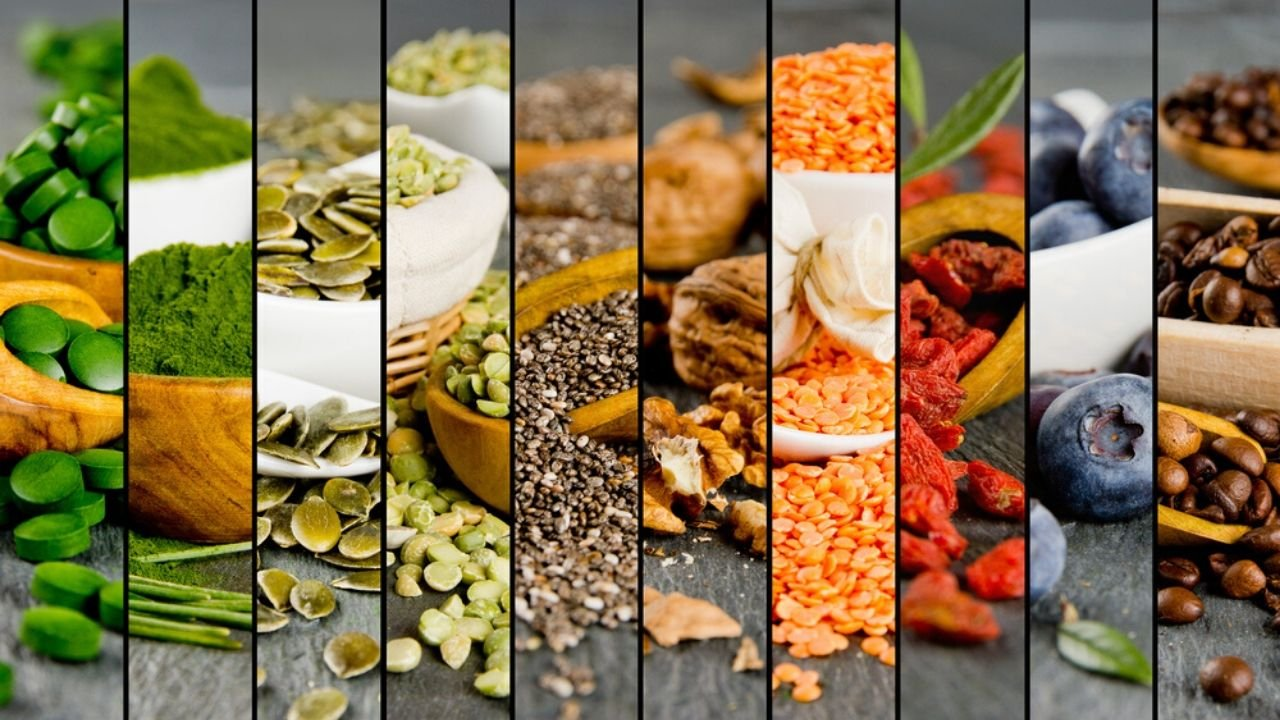 Spliced image of multiple superfoods