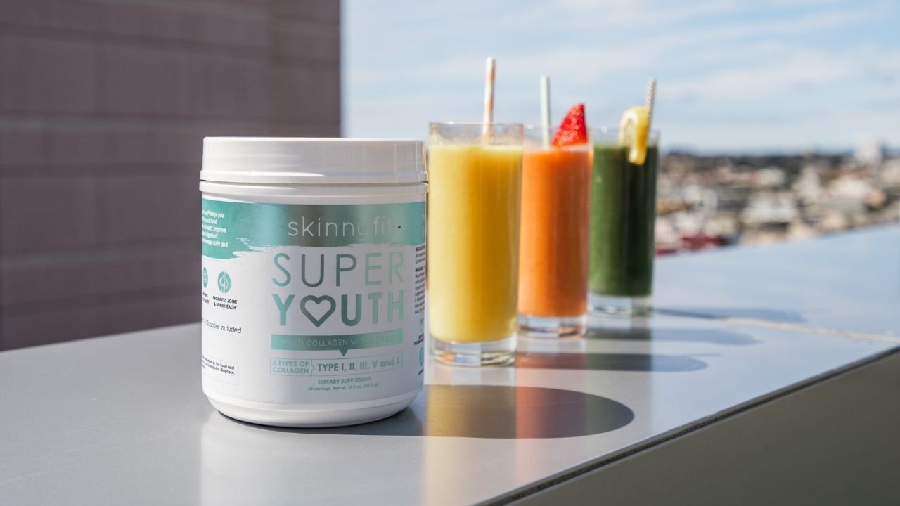 Super Youth Collagen Peptides in various flavors