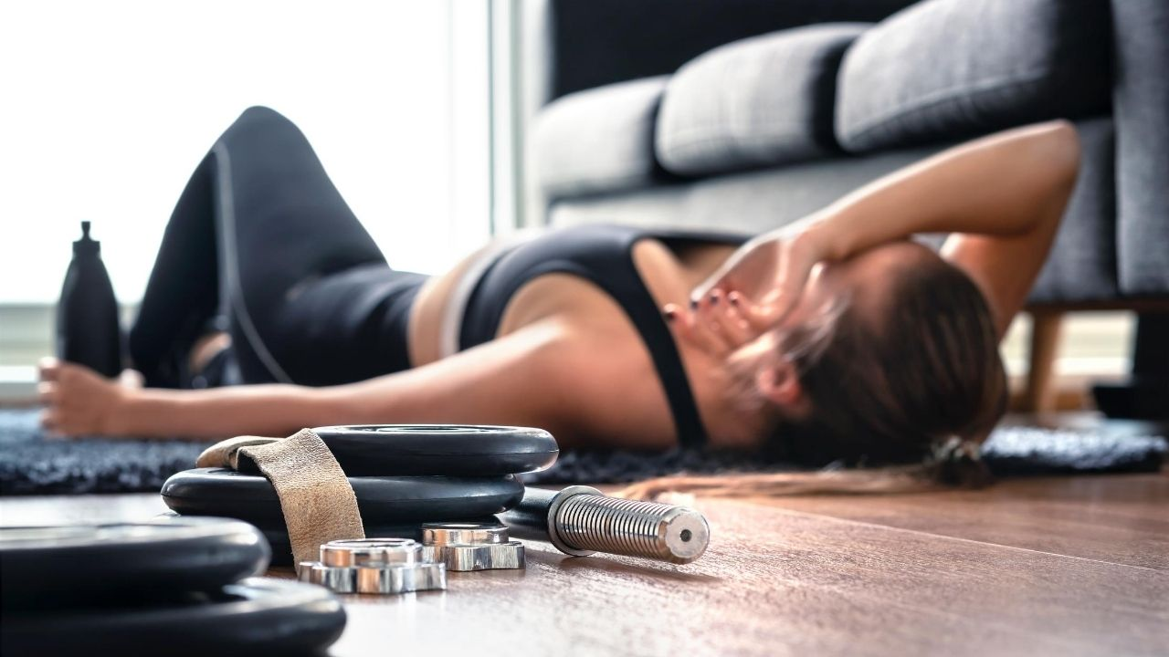 overtraining - woman exhausted from too much exercise