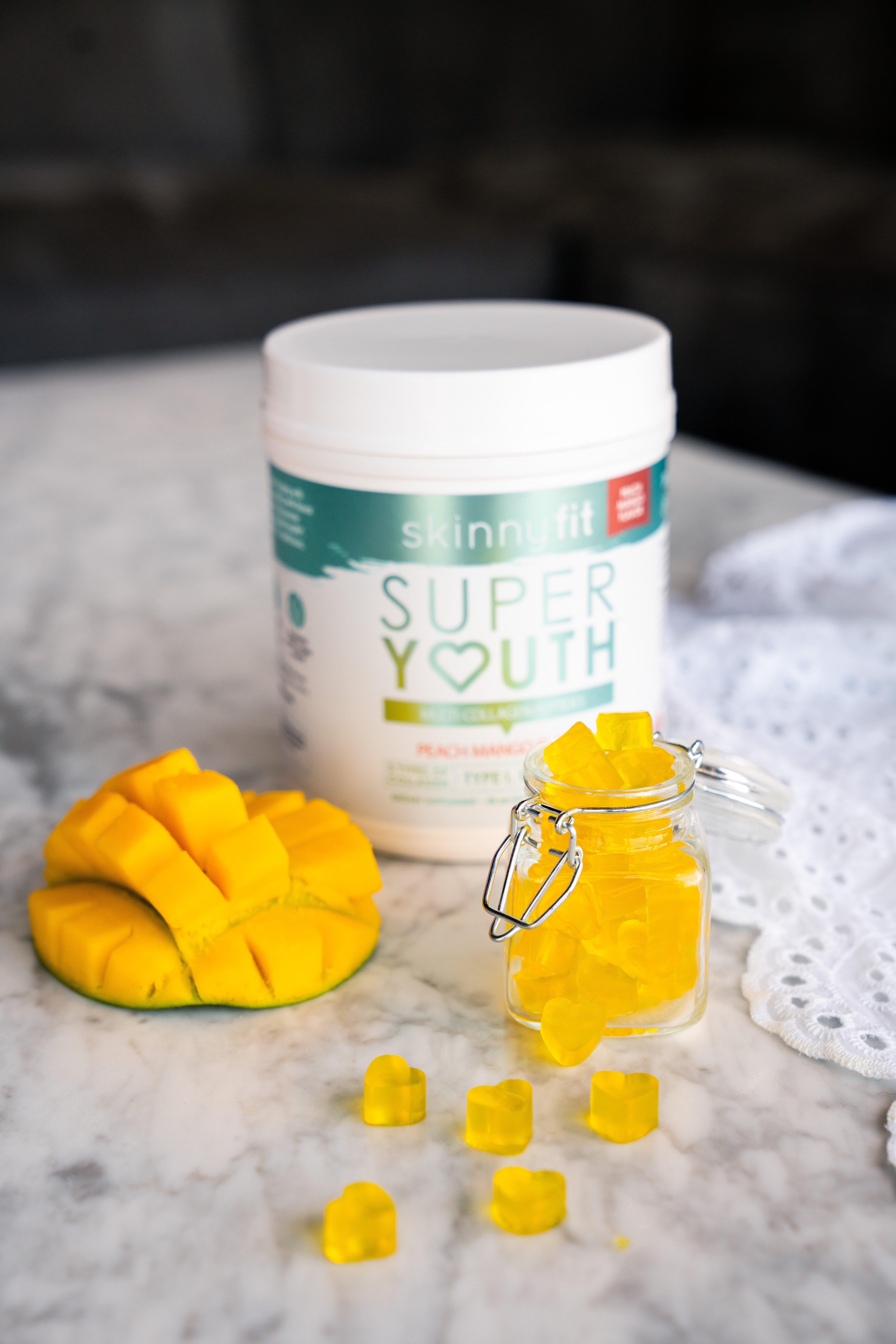 peach mango collagen gummies