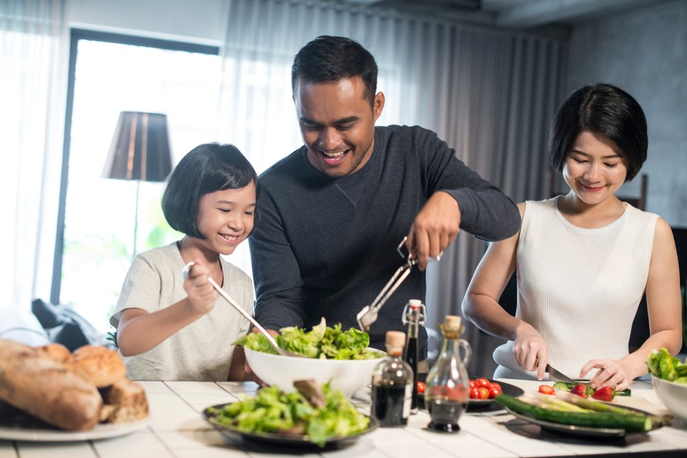 Healthy eating habits with kids